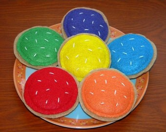 Felt Food Rainbow Cookies - Educational Toy