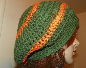 Cloche  Hat  Autumn Colors Hand Crocht
