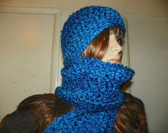 Hawaii Blue Scarf and Hat Set