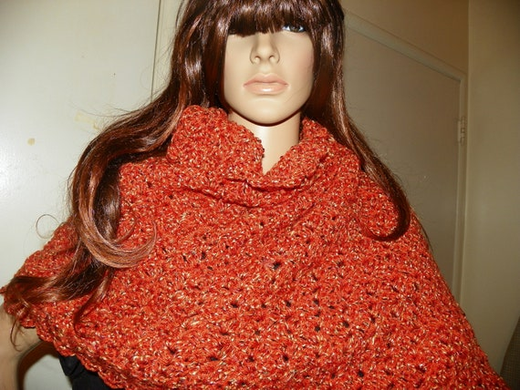 Autumn Unique Shawl Wrap Stole My Best Seller Perfect for a Bridsmaids Gift  Hand Crochet