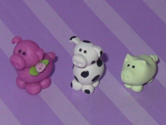 CUSTOM ORDER - Set of 3 Miniature Piggies