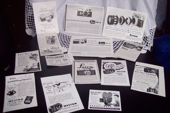 1940s Camera Small Ads Lot of 14