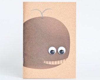 Kraft Notebook Pocket Booklet A6 - Whale