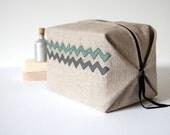wash bag / cosmetic bag / abstract Chevrons design / toiletry  travel bag / cosmetic make-up bag