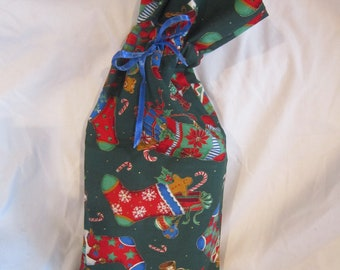 Small Christmas Fabric Gift Bag