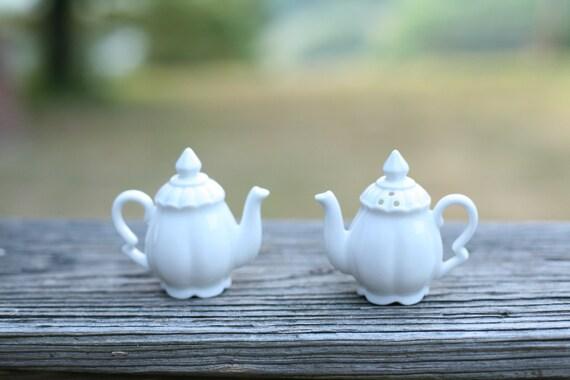 Little Tea Pot Salt And Pepper Shakers Tea By Letslovevintage