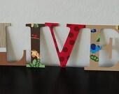 1 2 3 Jungle Nursery Hand Painted Letters