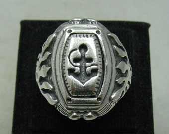 R001154 Sterling Silver Men's Ring Solid 925 Anchor