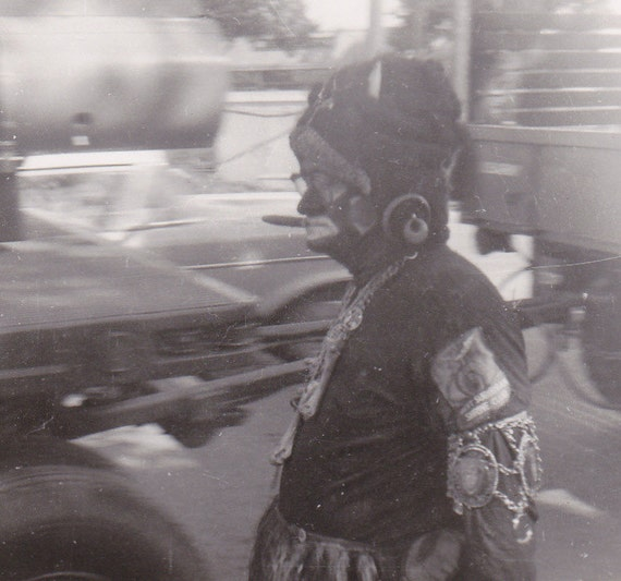 What The- Shriner in Blackface- 1962 Vintage Photograph