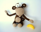 Pattern, Amigurumi Pattern, Amigurumi Monkey Pattern, Crocheted Monkey Pattern - Instant dowload