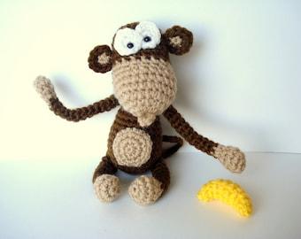 Pattern, Amigurumi Pattern, Amigurumi Monkey Pattern, Crocheted Monkey Pattern - Instant dowload