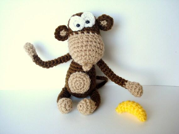 Amigurumi Banana Crochet Pattern Free : Pattern Amigurumi Pattern Amigurumi Monkey Pattern
