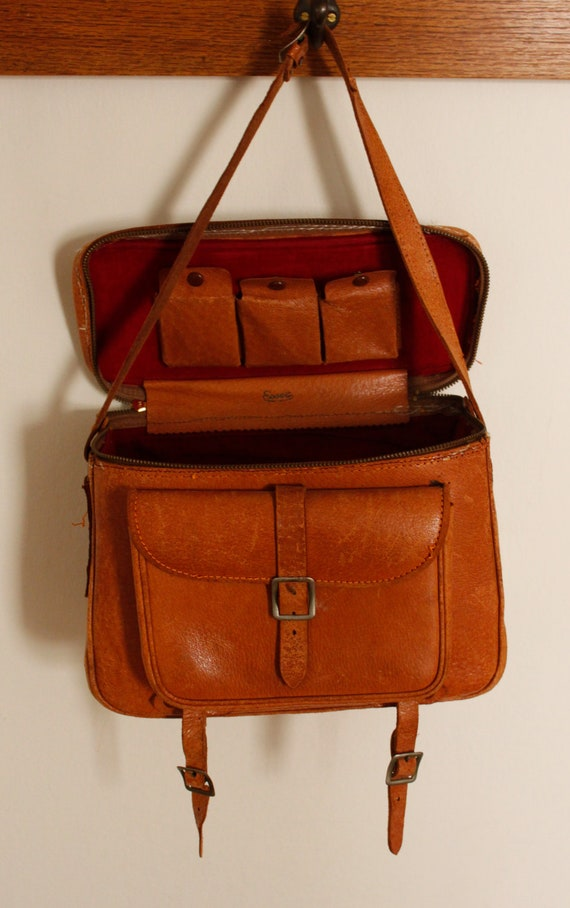 Vintage Leather Escot Camera Bag