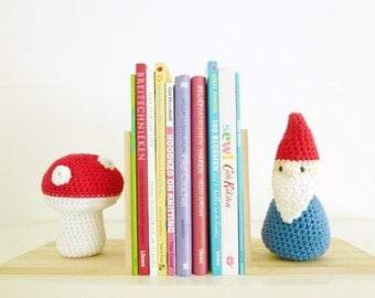 Crochet Gnome Toadstool Pattern - Instant Download