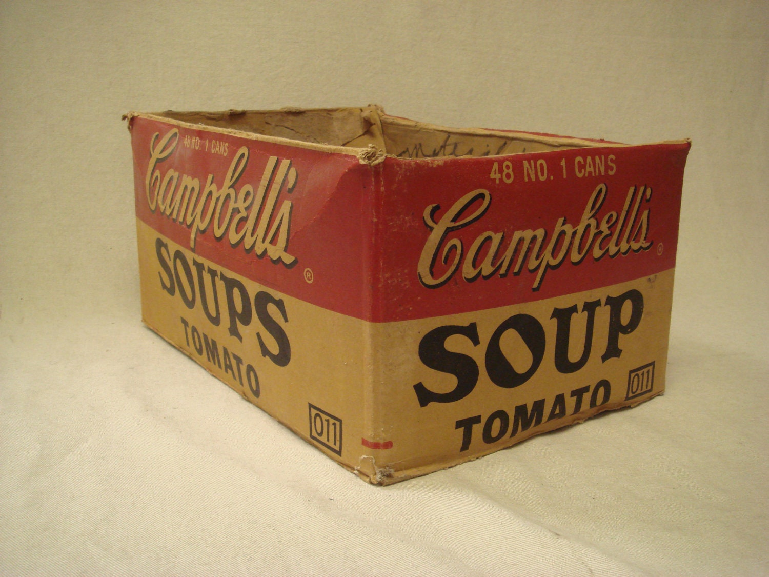 antique campbell 39 s tomato soup advertising box black by tfsloan. Black Bedroom Furniture Sets. Home Design Ideas