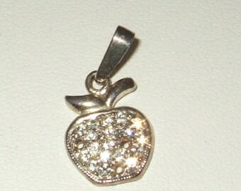 Vintage apple pendant 925 silver apple pendant vintage silver pendant sterling silver apple pendant farmhouse chic orchard chic