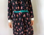 1/2 OFF SALE 70s school paisley dress M
