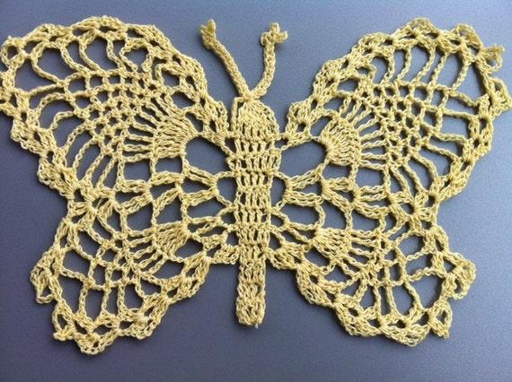 Crochet butterfly doily