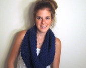 Blue Cowl Scarf Knit - The Patuxent Cowl