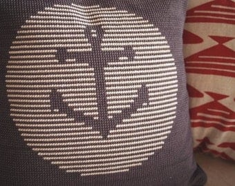 Anchor Cross Stitch Pattern PDF Pillow Cover