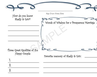 Customized Wedding Guestbook Guest book - Personalized & Printable
