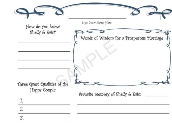 customized wedding guestbook guest book personalized