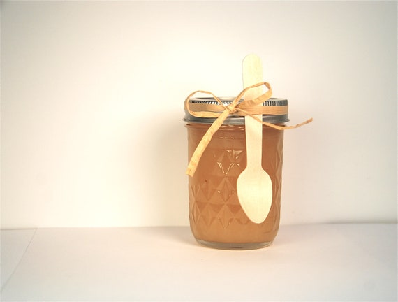 Pear Ginger Lime Jam with Wooden Spoon Hostess Gift