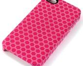 iPhone Hardcase - Magenta Pink Honeycomb Pattern - FREE POSTAGE
