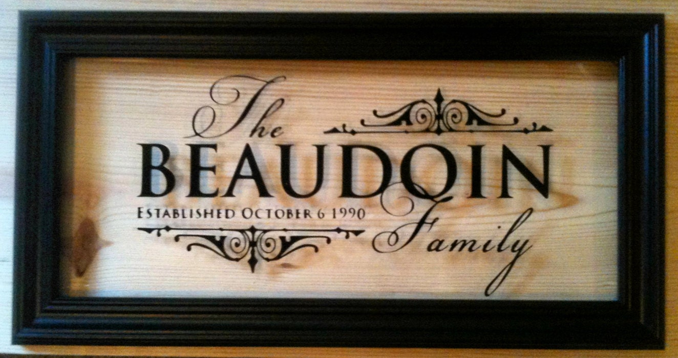 Personalized Picture Frame With Family Name Quote Family: Custom / Personalized Family Name Vinyl Glass Frame 9.5 X