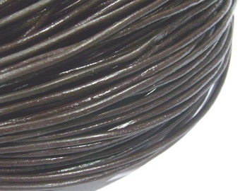 Leather Cord 1.5mm Genuine Dark Brown String Jewelry Making - 4982  - Wholesale Leather Cord