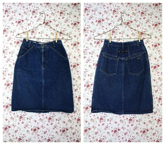 """90s high waist denim skirt / seamed Calvin Klein jean pencil skirt 26"""""""