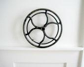 Antique Cast Iron Wheel - Rustic Industrial Decor