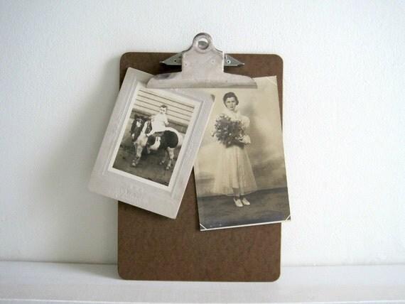 Vintage Clip Board - Industrial Office Decor
