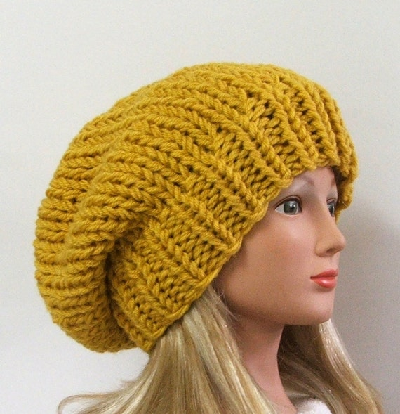 Items similar to Made to Order - Chunky Knit Mustard ...