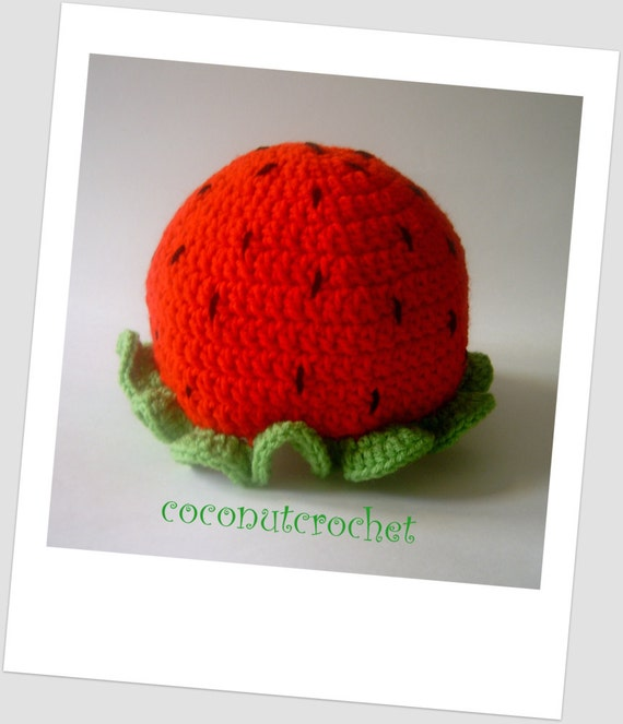 Girl's Strawberry Hat