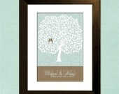 "Sale Custom Wedding Tree Guest Book Alternative - 20"" x 30"" - Signature Only - Up to 300 guests"