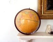 Antique Globe Mid Century Modern Globe Gold Imperial