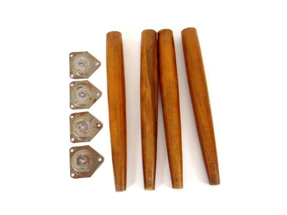 furniture legs pin leg set mid century modern wooden legs with. Black Bedroom Furniture Sets. Home Design Ideas
