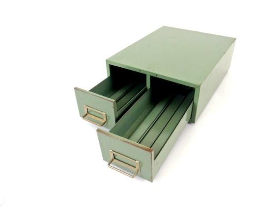 Metal Cabinet File Cabinet Double Drawer Vintage Box