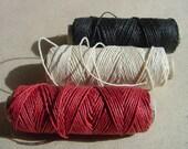 Linen Thread - RED - 1 Spool - 30 Yards = 28 Meters 1 mm diameter