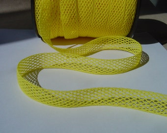 Yellow elastic trim to altered your fashion headband and lingerie designs - Ruban Resille - bra straps - bra making