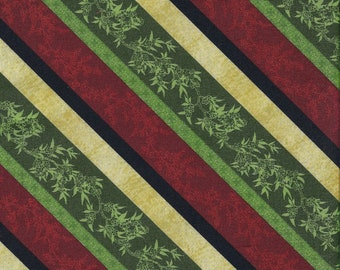 CLEARANCE! Christmas At Home, South Sea Imports, Stripe, 1/2 Yard