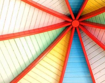 Linear Photograph 4x6 - Rainbow Art
