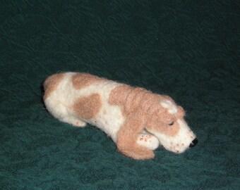 Basset Hound needle felted dog example custom made to order