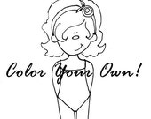 Color Your Own Paper Dolls - Printable PDF