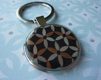 Mosaic Flowers Keychain
