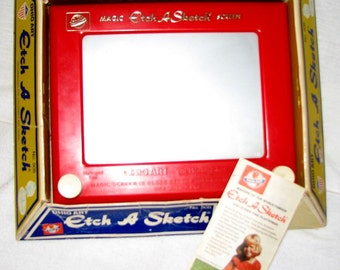 Vintage Original Model 505 Ohio Art Etch A Sketch Original Packaging 1977 Instructions