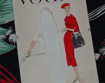 Vintage Pattern 1956, Vogue No.8878 Dress, Size 14