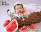 Watermelon Bonnet Knitting Pattern - 5 Sizes Included - PDF Sale - Instant Digital Download