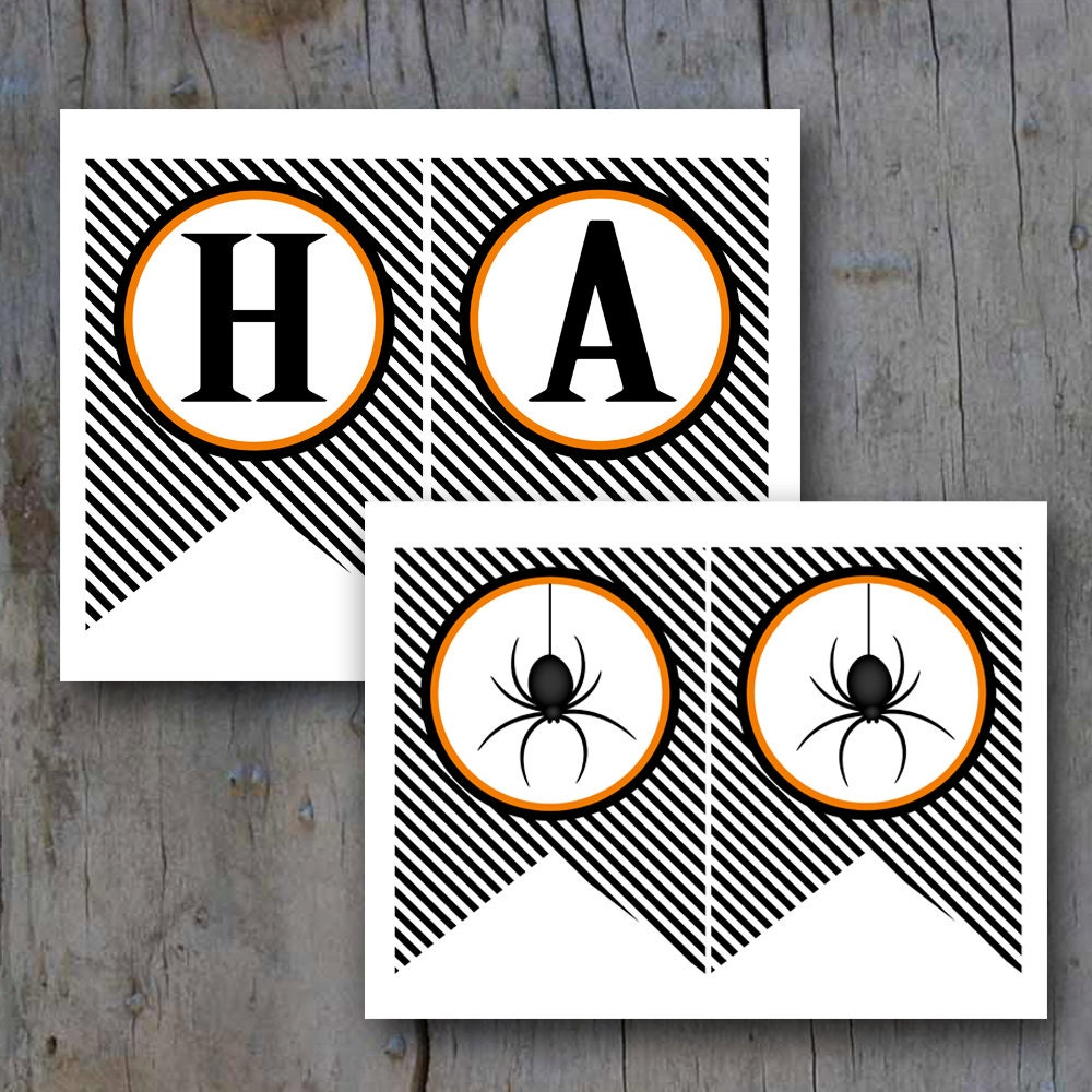 It is a photo of Critical Happy Halloween Banner Printable